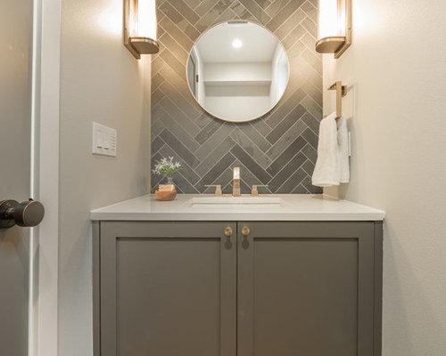Foto e idee per bagni di servizio bagno di servizio con top in