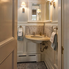 Traditional Powder Room by Knight Architects LLC
