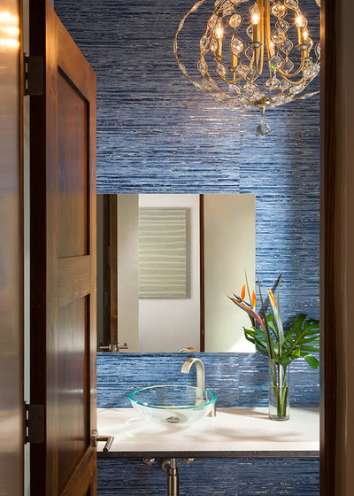 Southwestern Powder Room by Annie O'Carroll Interior Design