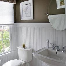 Traditional Powder Room by PNB Interior Design, Inc.