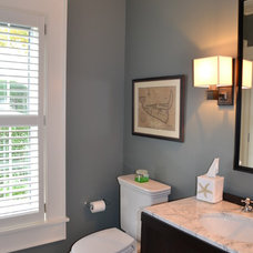Beach Style Powder Room by Cheney Brothers Building & Renovation LLC