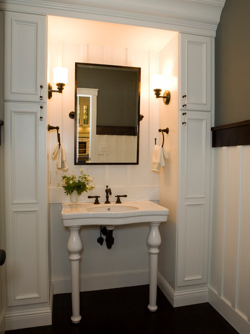 Craftsman Powder Room Design Ideas, Remodels & Photos