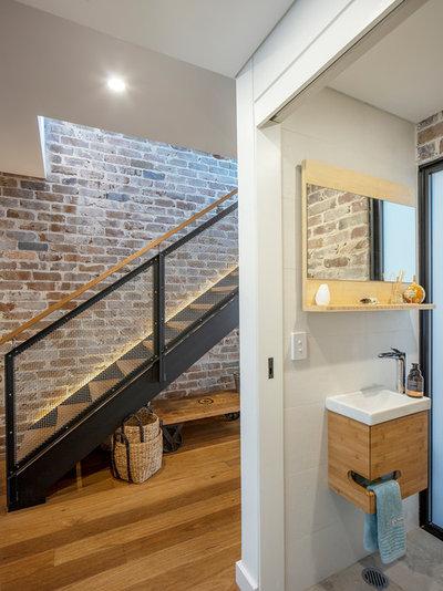 Contemporary Powder Room by Jessica Matson Architecture