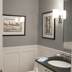 traditional powder room by Debra Kling Colour Consultant