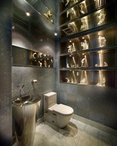Contemporary Powder Room by Pepe Calderin Design- Modern Interior Design