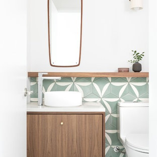 Свежая идея для дизайна: туалет в стиле ретро - отличное фото интерьера