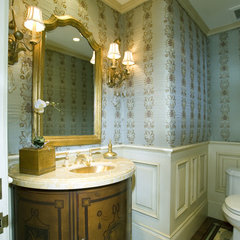 traditional powder room by Spinnaker Development
