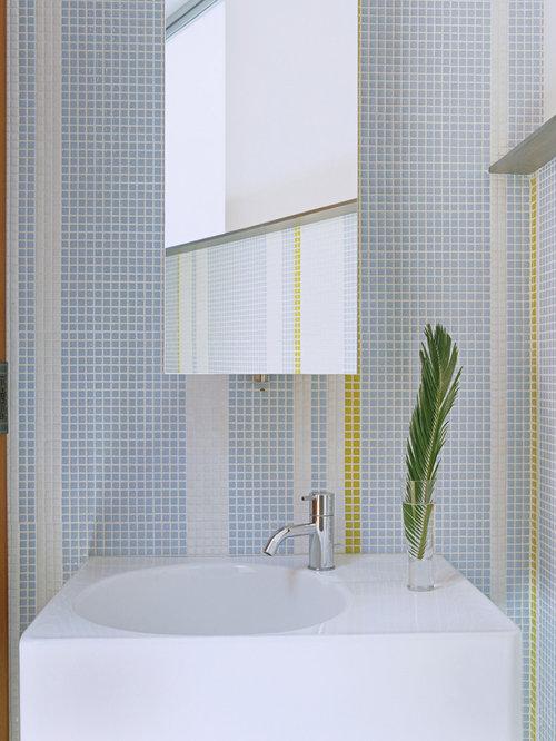 Photos et idées déco de WC et toilettes avec un carrelage jaune