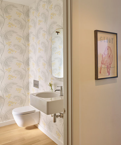 Contemporary Powder Room by AT6 Architecture : Design Build