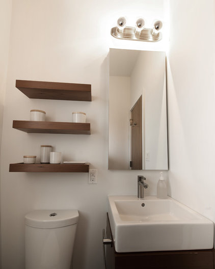 Modern Powder Room by At-Six Architecture