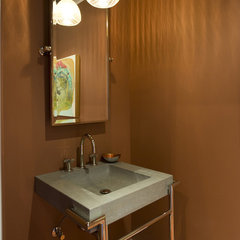 contemporary powder room by Brian Dittmar Design, Inc.