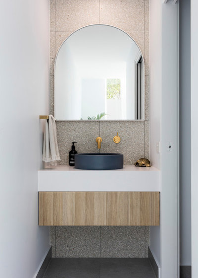 Contemporary Powder Room by Menzie Designer Homes Pty Ltd