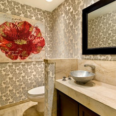 contemporary powder room by Angela Strickland