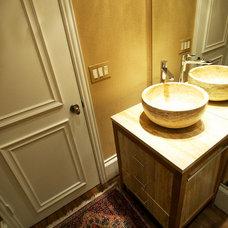 Contemporary Powder Room by Studio B Design Group