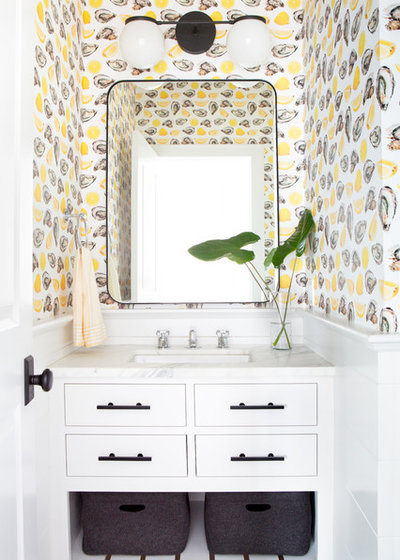Beach Style Powder Room by Chango & Co.