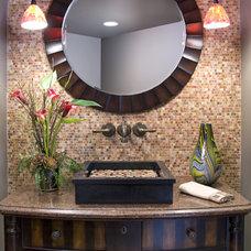 Contemporary Powder Room by Bob Michels Construction, Inc.