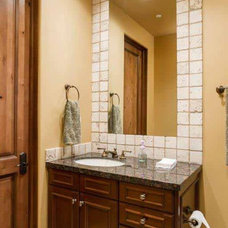 traditional powder room by Fisher Custom Homes