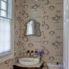 Traditional Powder Room by Buckingham Interiors + Design LLC