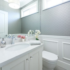 Transitional Powder Room by Fina Designs