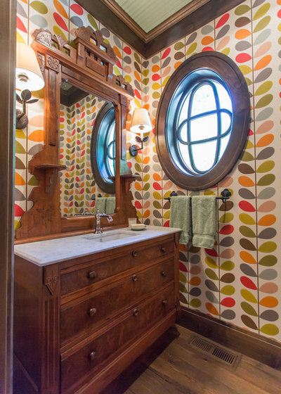 Craftsman Powder Room by Engler Studio Interior Design
