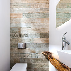 Contemporary Powder Room by UED Studio