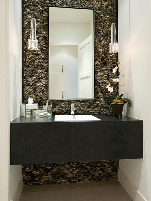 Photos et id es d co de wc et toilettes avec un carrelage beige for Wc contemporain