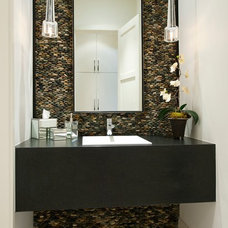 Contemporary Powder Room by TATUM BROWN CUSTOM HOMES