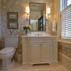 Traditional Powder Room by John Bynum
