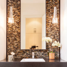 Contemporary Powder Room by Stocker Hoesterey Montenegro