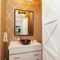 Contemporary Powder Room by Contract Furnishings Mart