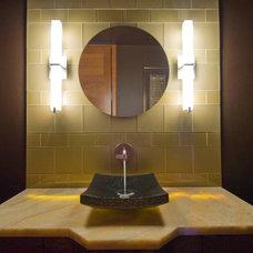 Contemporary Powder Room by Midori Yoshikawa Design Group