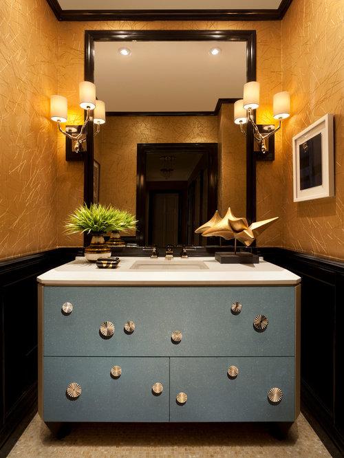 g stetoilette g ste wc mit integriertem waschbecken und mosaik bodenfliesen ideen f r. Black Bedroom Furniture Sets. Home Design Ideas