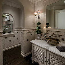 Traditional Powder Room by Gina Spiller Design