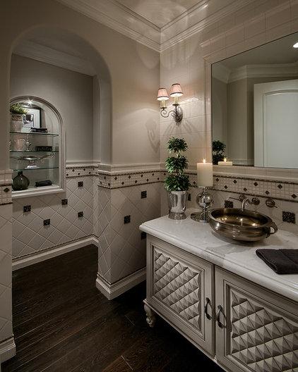 Traditional Powder Room by Gina Spiller Design