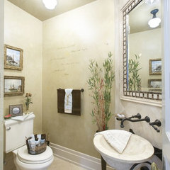 eclectic powder room by LMR Designs, LLC