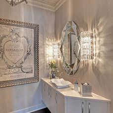 Transitional Powder Room by Romens