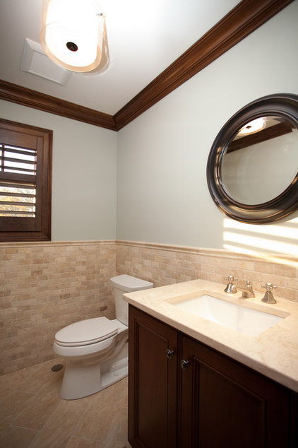 Contemporary Powder Room by Oakley Home Builders