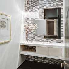 Contemporary Powder Room by Boswell Construction