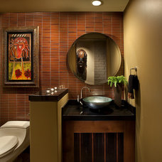 Contemporary Powder Room by AB Design Elements, LLC