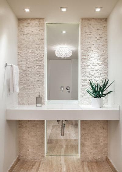 contemporaneo bagno di servizio by 2id interiors