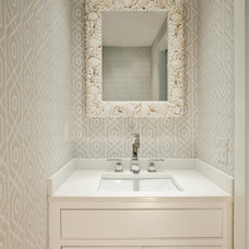 Beach Style Powder Room by Christopher's Home Furnishings of Nantucket, Inc.