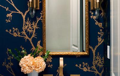 Powder Room Palettes: 10 Handsome Dark Blues