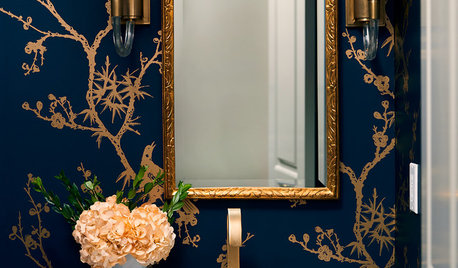 Powder Room Palettes: 10 Handsome Dark Blues