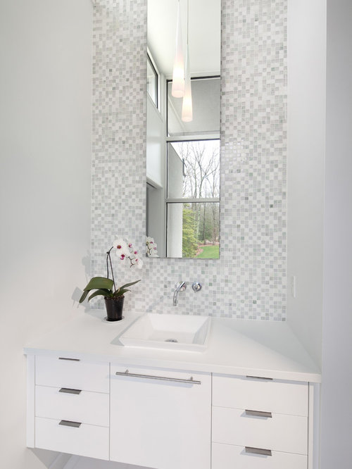 White Powder Room Ideas Pictures Remodel And Decor