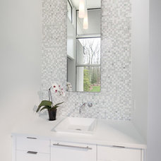 Contemporary Powder Room by Morgan Howarth Photography