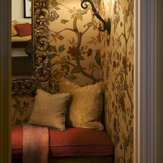 Eclectic Powder Room by Tommy Chambers Interiors, Inc.
