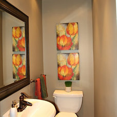 Traditional Powder Room by Feels Like Home 2 Me~ Home Staging in Toronto West