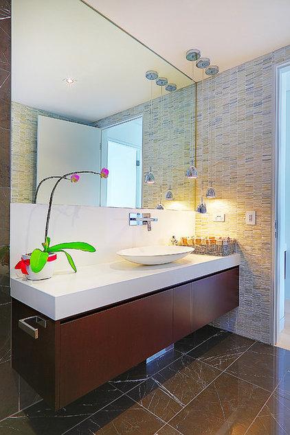 Contemporary Powder Room by Impala Kitchens and Bathrooms - Petra Mallia
