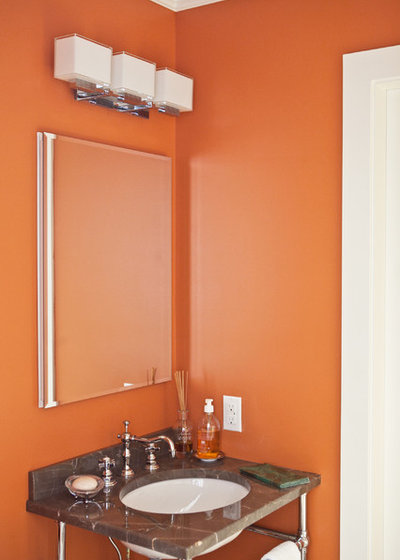 Ring In A Spicy Hot Palette Of Colors That Go With Orange: 7 Striking Paint Colors For Your Powder Room