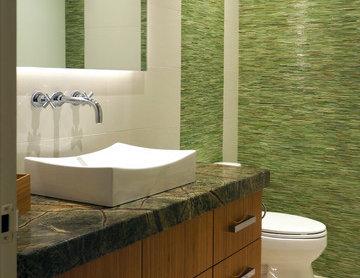 Organic Contemporary Bathroom Remodel